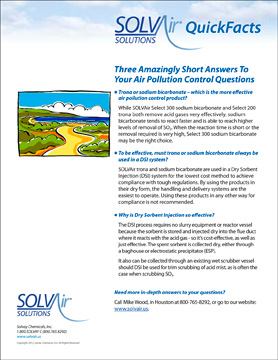 SOLVAir QuickFacts E-Newsletter